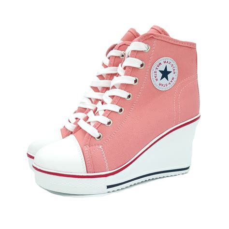 Sneakers Wedges Wanita 5cm Include all iniciate wedge heels shoes fashion