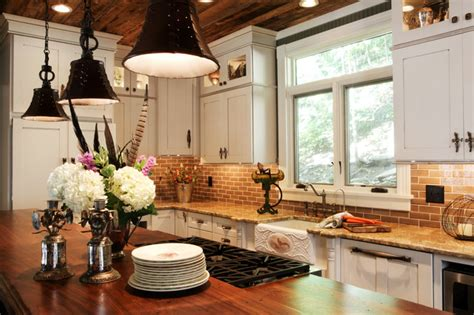 country chic kitchen traditional kitchen st louis by sub zero wolf appliances by roth country cottage renovation reclaimed wood ceilings st