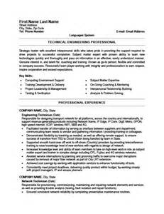 Resume Exles Technician Engineering Technician Resume Template Premium Resume Sles Exle