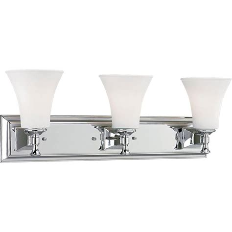bathroom light fixture home depot progress lighting fairfield collection 3 light chrome bath