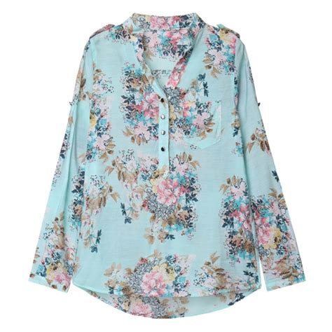Floral Print Chiffon Shirt buy floral print chiffon blouses flower printed
