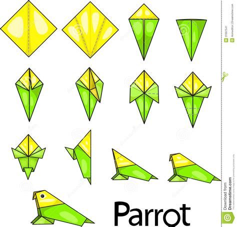 Origami Macaw Parrot Step By Step - origami parrot step by step driverlayer search engine