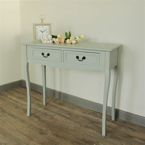 bedroom console table dressing table console table two drawer shabby chic grey