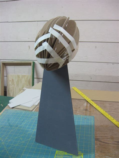 How To Make A Paper Trophy - turkey bowl trophy cover with masking