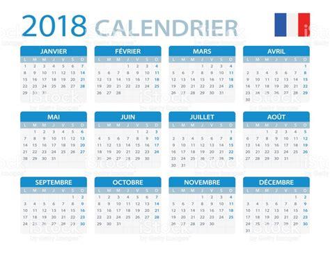 Calendar 2018 Photos Calendar 2018 Version Stock Vector More
