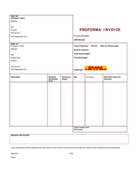 proforma invoice template word invoice example
