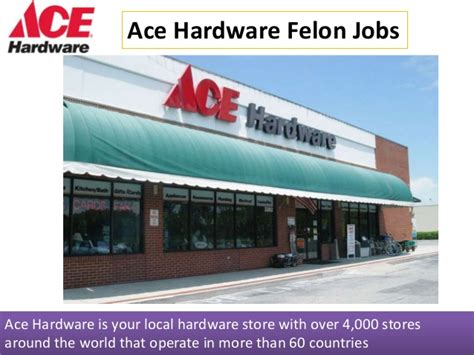ace hardware employment ace hardware felon jobs