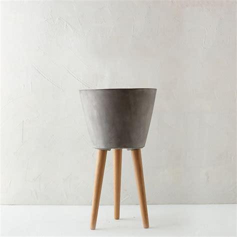 tapered wooden leg pot  garden indoor planters