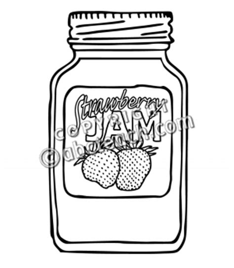 jar of jam coloring pages coloring pages
