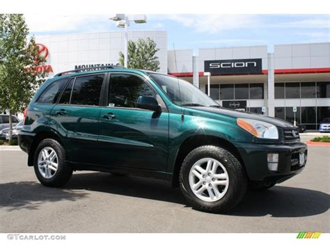 Toyota Green 2003 Rainforest Green Pearl Toyota Rav4 4wd 32025251
