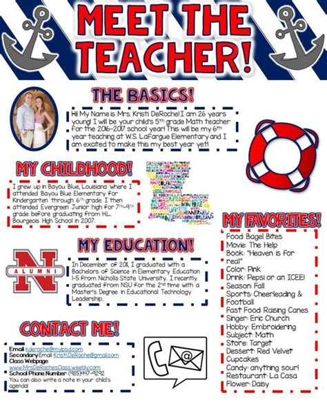 newspaper theme preschool teacher newsletter meet the teacher and the teacher on