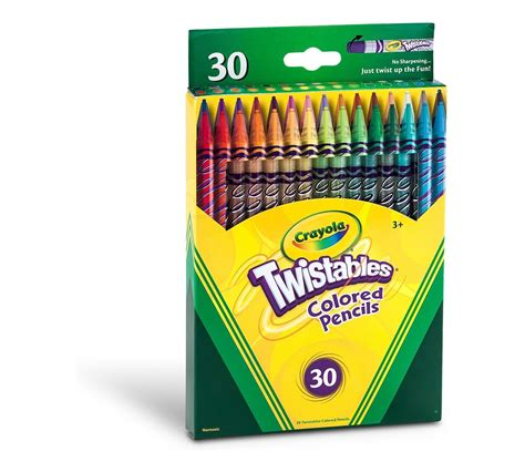 crayola twistables colored pencils always sharp