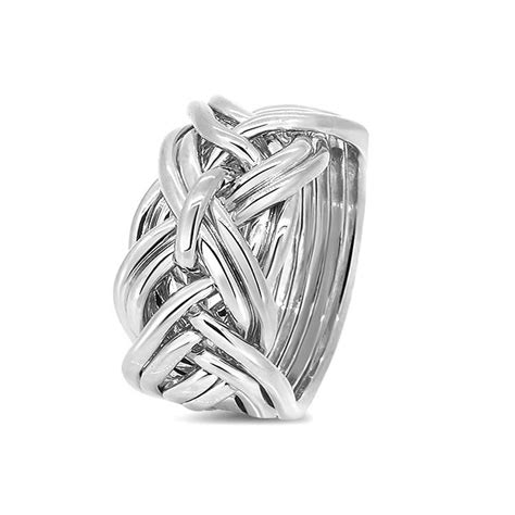 mens silver 9wd m puzzle rings creations