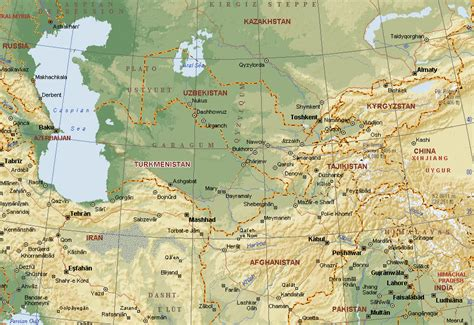 central asia map central asia maps