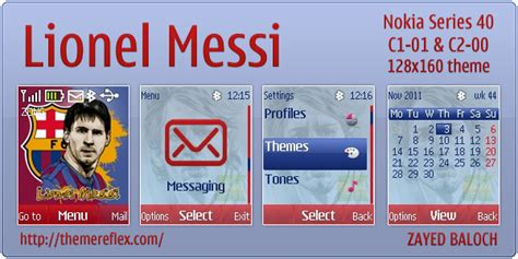 themes hd c1 lionel messi theme for nokia c1 01 c2 00 themereflex