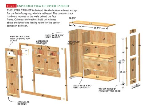 upper kitchen cabinet plans hoosier cabinet popular woodworking magazine