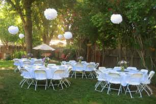 Resting place for completed projects backyard bridal shower