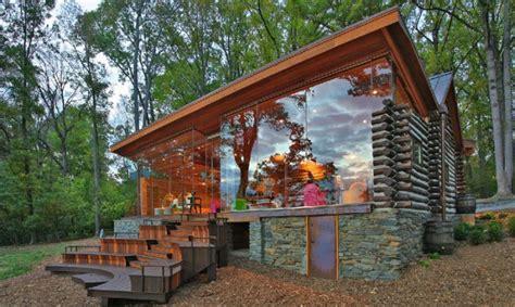 log cabin kits modern glass log cabin modern log cabin