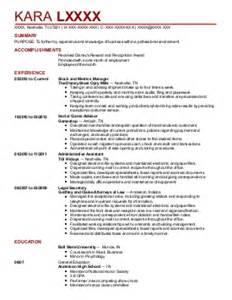 receptionist resume exle select automotive