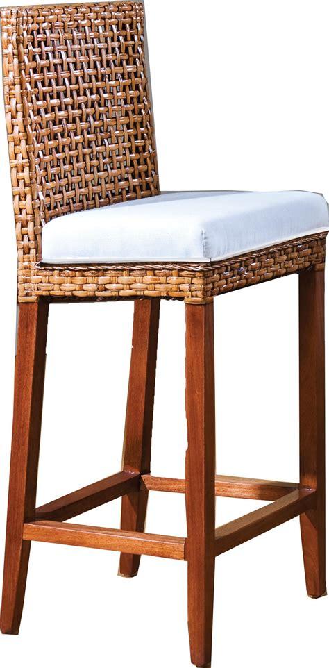 wicker bar stools hospitality rattan indoor rattan wicker bar stool by oj commerce 610 6204 nat 943 04