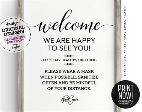 wear  mask sanitize distance printable sign