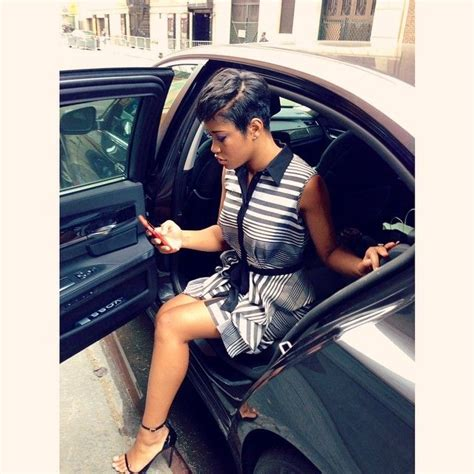 keke wyatts short cut with long front deep side part pixie cut keke palmer hairstyles