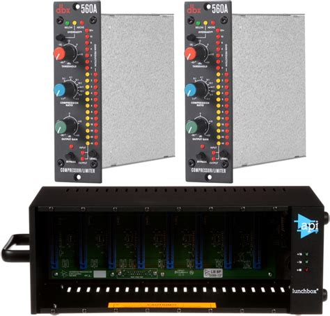 Api 500 Series Rack by Sweetwater Dbx Compressor Limiter And Api 500 Series Rack