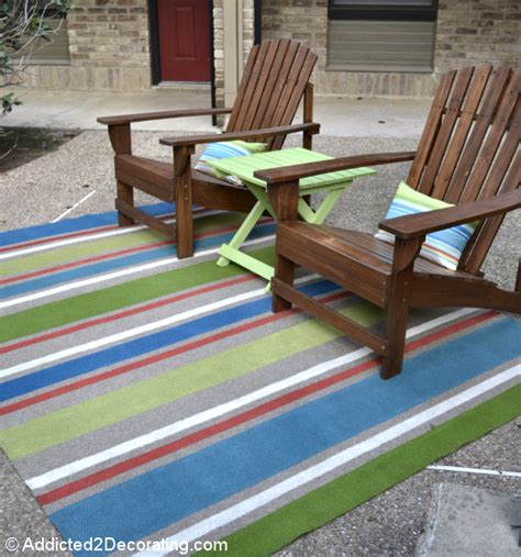 Outdoor Rug With Painted Stripes Outdoor Deck Rug