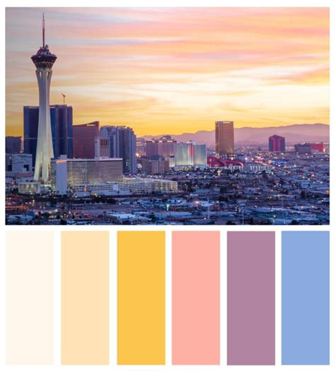 vegas colors color board mojave desert and vegas inspired color