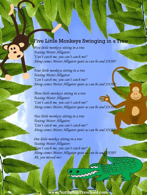 five little monkeys swinging in a tree 1000 images about zoo preschool theme on pinterest