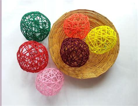 diy decorations balls diy decorative yarn balls 183 how to make a of seasonal decor 183 yarncraft on cut out keep