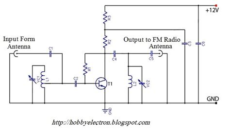 active fm antenna lifier of fm booster wiring diagram