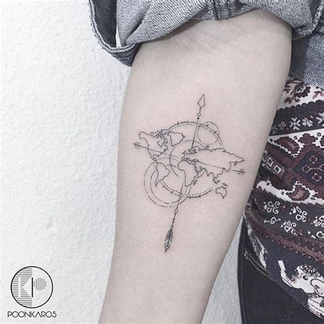 tattoo compass world map 1000 ideas about travel tattoos on pinterest compass