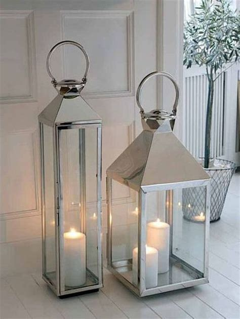 Large Floor Lanterns by Stainless Steel Lanterns Large Lanterns Stainless