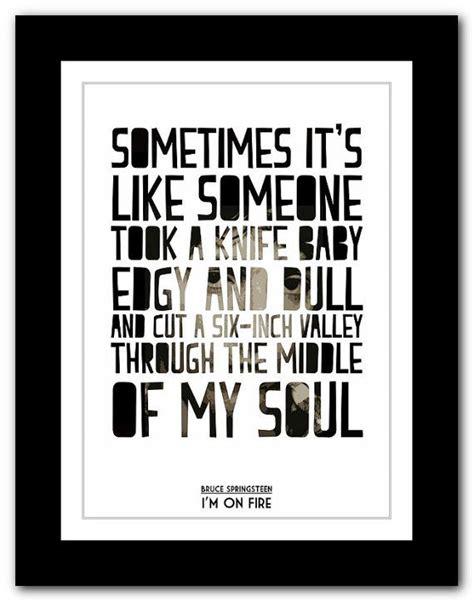 printable my house lyrics bruce springsteen i m on fire typography song lyric