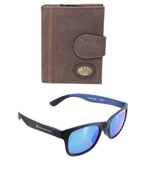 B1 Swiss Army Leather Brown Leather List Gr Kode Dg1 3 swiss brown leather wallet for with sunglasses buy at low price in india