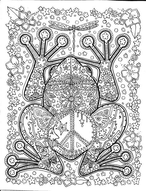 coloring pages for adults peace american hippie art quotes peace frogs coloring page