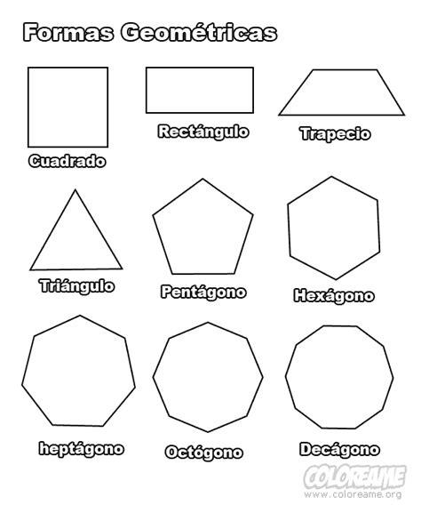 figuras geometricas simples las formas para imprimir dibujo para colorear de formas