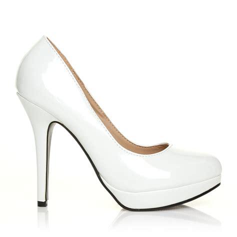 white shoes for heels white patent heels ha heel