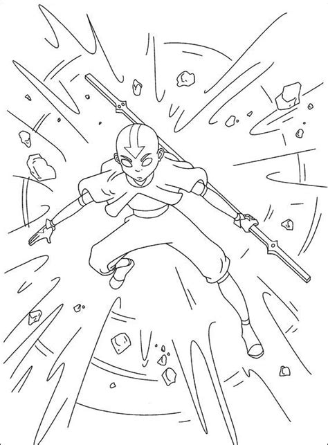 free printable avatar aang coloring pages