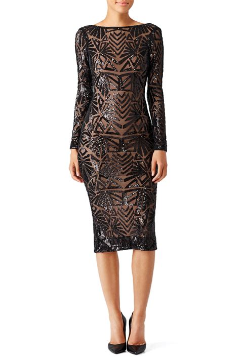 Black Emery Dress by Dress The Population for $45   Rent