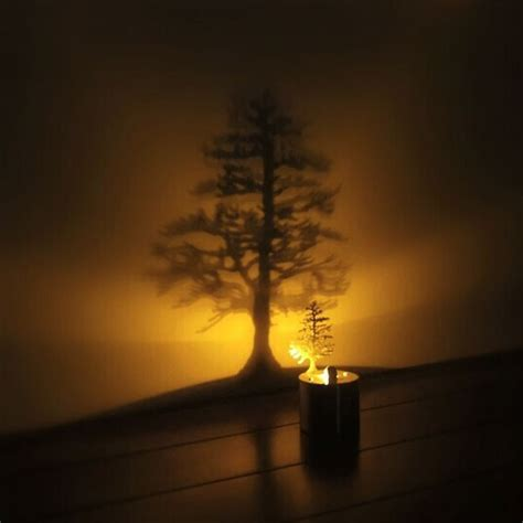creative led shadow projection night light atmosphere
