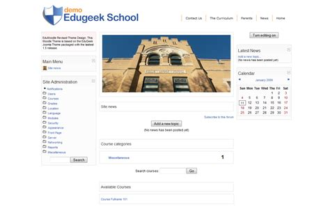 moodle theme version new edugeek moodle theme
