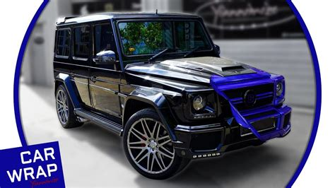 wrapped g wagon mercedes g63 brabus g wagon wrapped in gloss cosmic blue