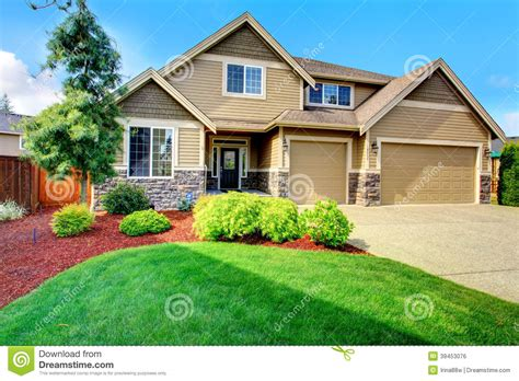 design your own home com luxury house ith beautiful curb appeal stock photo image