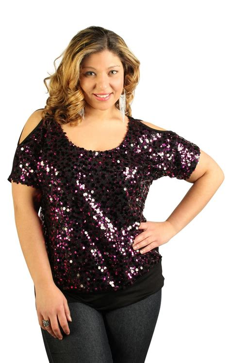 beaded tops for evening wear plus size plus size sequin top with cold shoulder my style