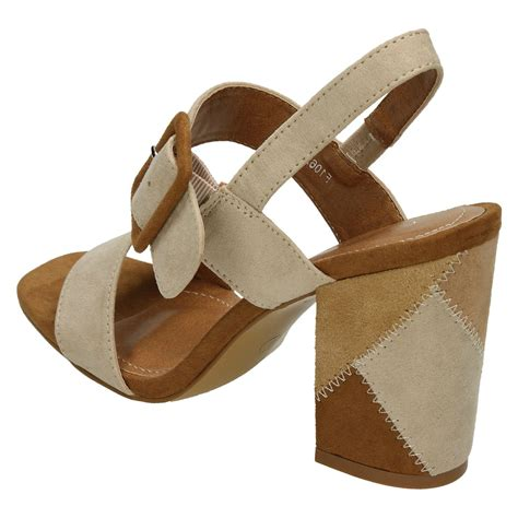 high heel mule sandals spot on style 626 high patchwork heel mule sandals