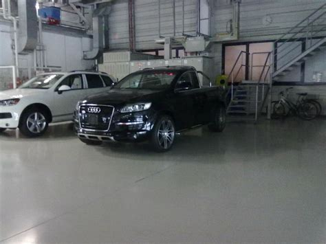 audi pickup truck u spy audi q7 pickup truck is the real deal carscoops com
