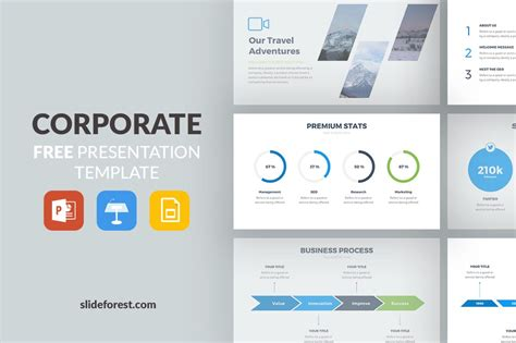 Corporate Free Presentation Template Presentations On Slideforest Top Free Powerpoint Templates