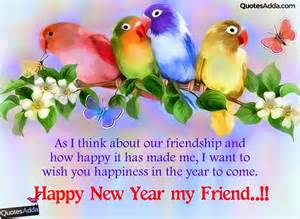 english cute happy new year wishes for friends